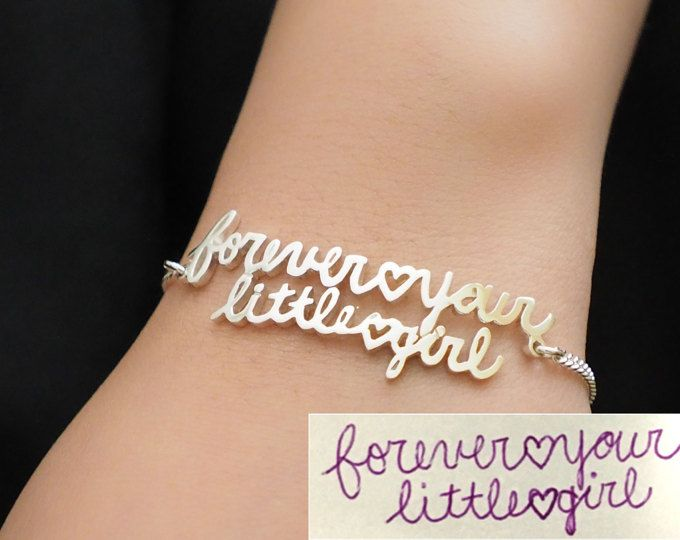 Custom Handwriting Jewelry Actual Bracelet Signature Memorial Personalized Mother S Gifts