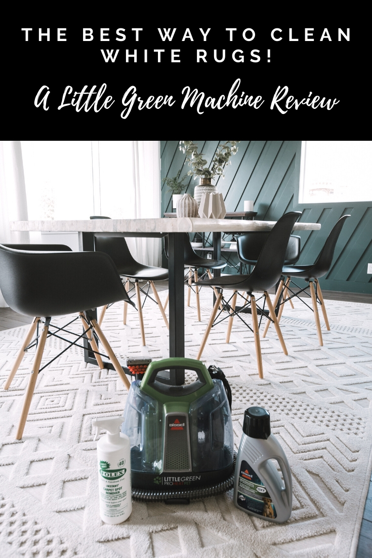 How To Keep A White Rug Clean A Bissell Little Green Machine