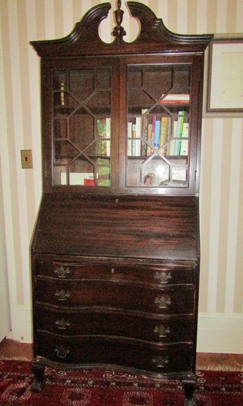 Skandia Furniture Co Mahogany Secretary With Drop Front