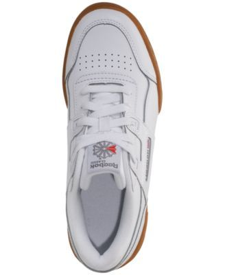 3e2a7cfd933a Reebok Boys  Classics Workout Plus Casual Sneakers from Finish Line -  WHITE GUM 6