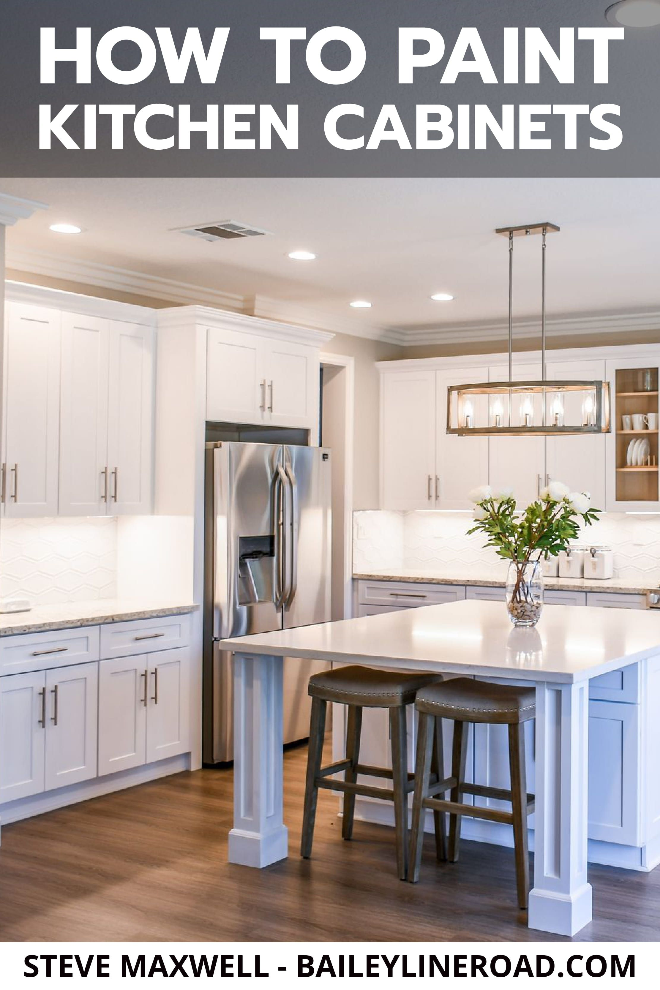 Painting Kitchen Cabinets Watch This 90 Second Video Tutorial Baileylineroad In 2020 Kitchen Remodel Small Painting Kitchen Cabinets Kitchen Inspirations