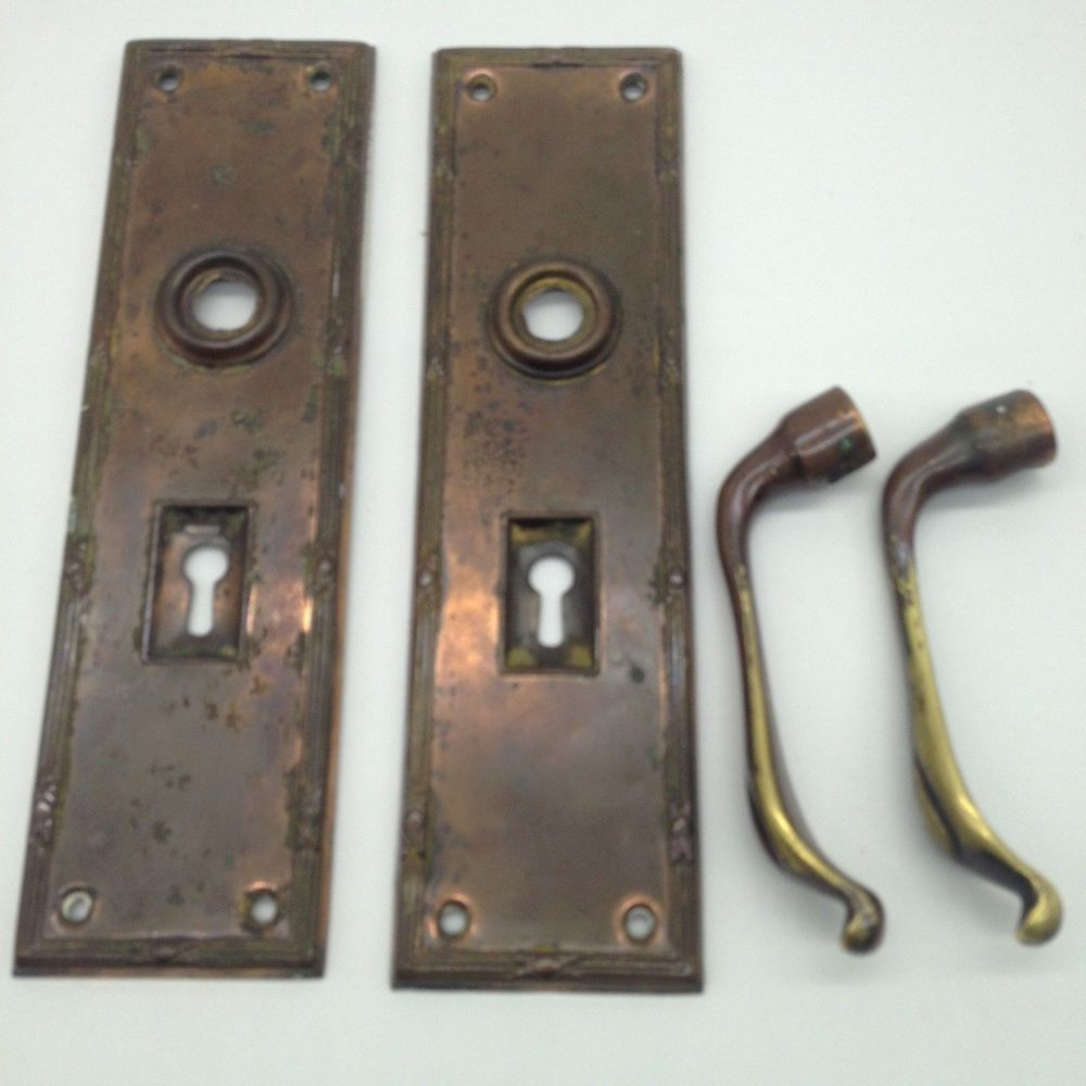 Antique Edwardian Handles and Finger Plates