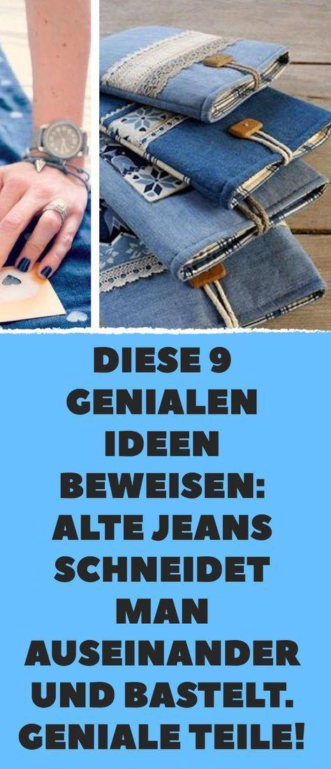 9 Ideen, alte Jeans neu zu nutzen.