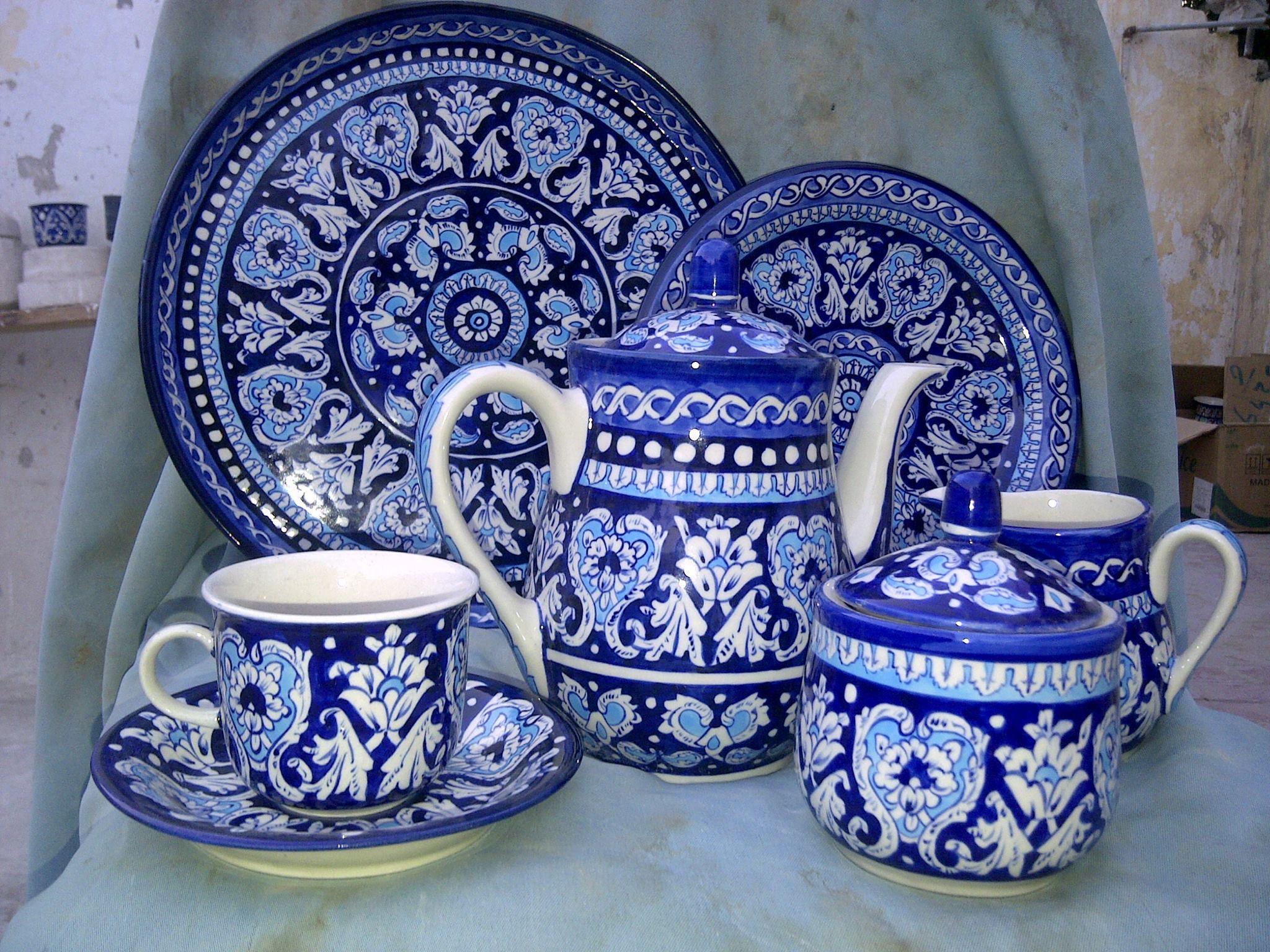From Multan Pak...traditional blue ceramics. | Blue pottery, Blue ceramics,  Multan