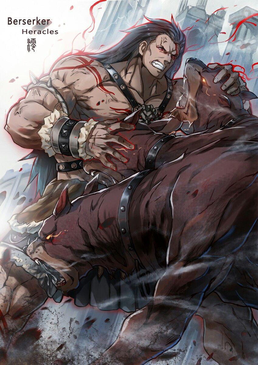 Berserker Heracles Fate Stay Night Unlimited Blade Works Heaven S Feel Fate Grand Order Fate Stay Night Anime Fate Stay Night Anime