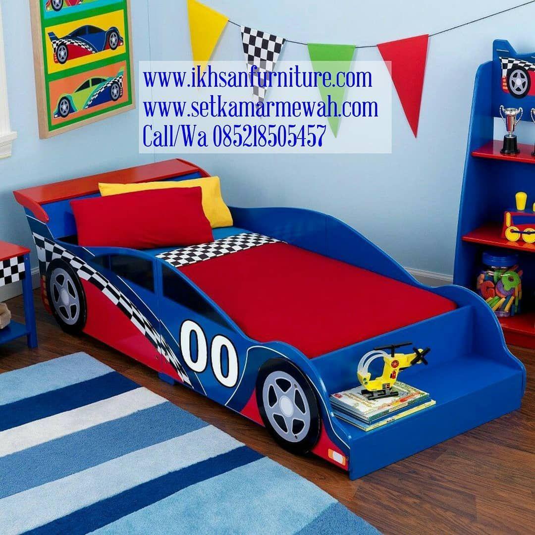 Tempat Tidur Mobil Balap Tempat Tidur Anak Tempat Tidur Karakter Mobil Ranjang Anak Mobil Balap Ranjang Anak Ka Toddler Car Bed Toddler Bed Set Toddler Bed