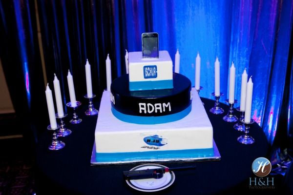 5 Bar Bat Mitzvah Cake Ideas Candle Lighting By H Photography