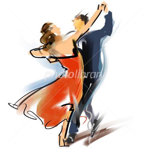 社交ダンス イラスト素材 デザイン 社交ダンス イラスト