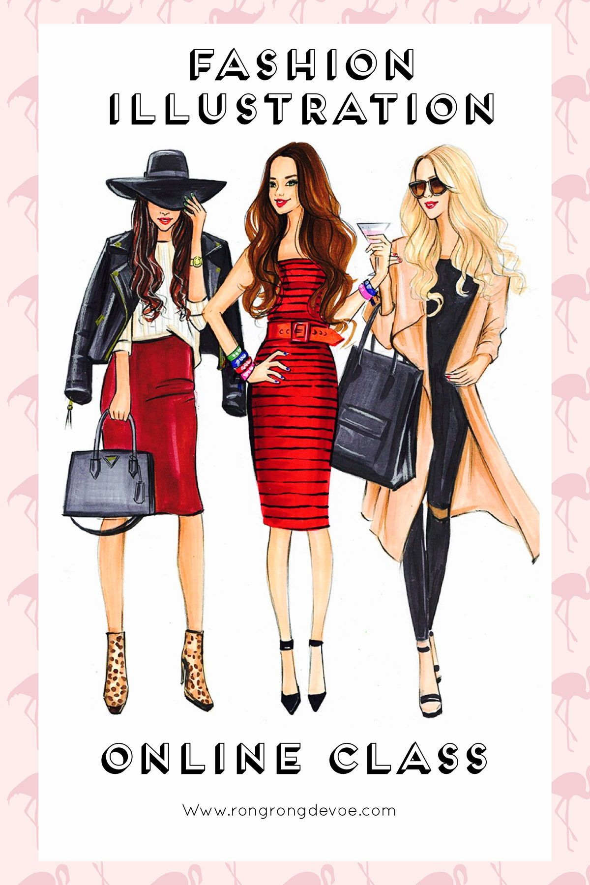 Learn How To Draw Fashion Illustration With Markers Online Class Taught By Professional Fashion Illustrator Rongrong Fashion Illustration Fashion Girl Fashion