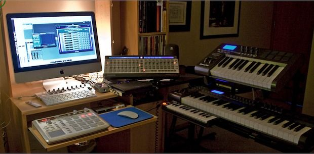 Terrific Mac Setup The Studio Of A Multimedia Producer Home Music Studio Largest Home Design Picture Inspirations Pitcheantrous
