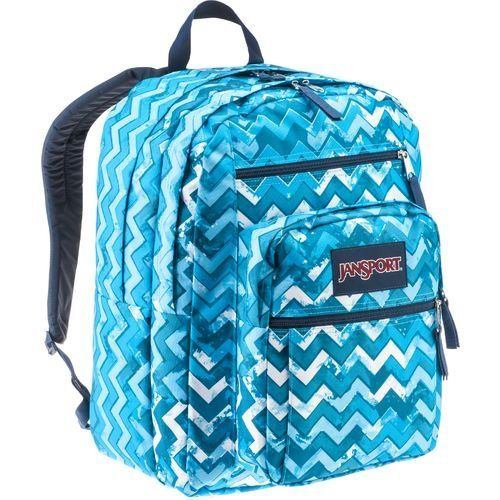 34c95f0a197 JanSport Big Student Backpack Blue Ziggy Stripe -- Check out this ...