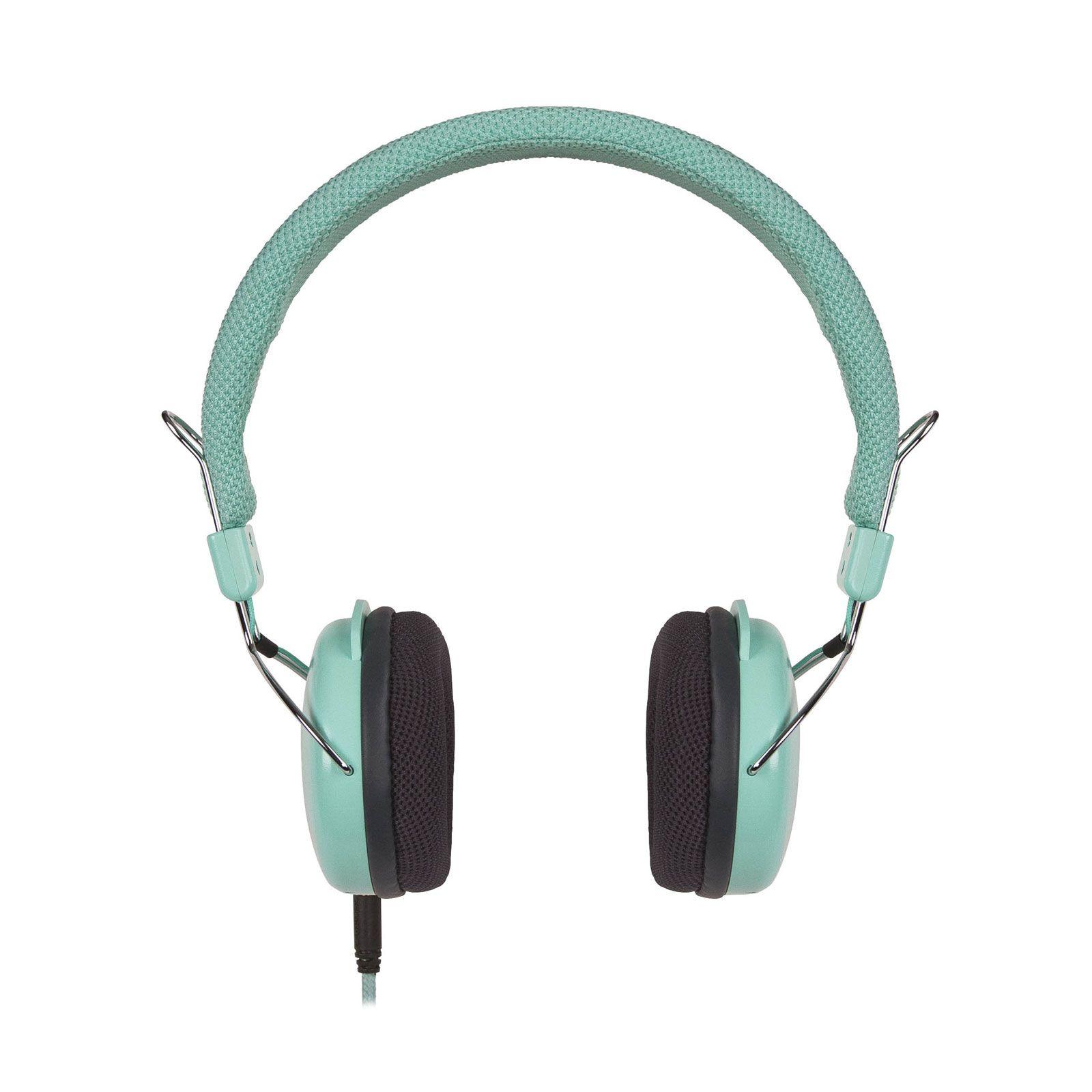 Turntable Adjustable Headphones in Turquoise | dotandbo.com
