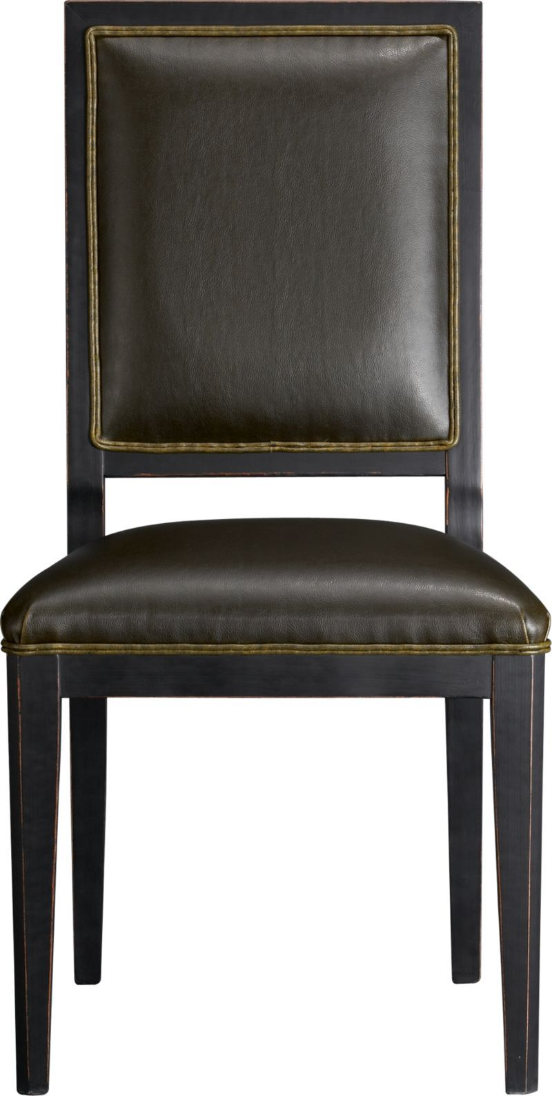 Sonata Leather Side Chair | Crate and Barrel | Segal Home | Pinterest