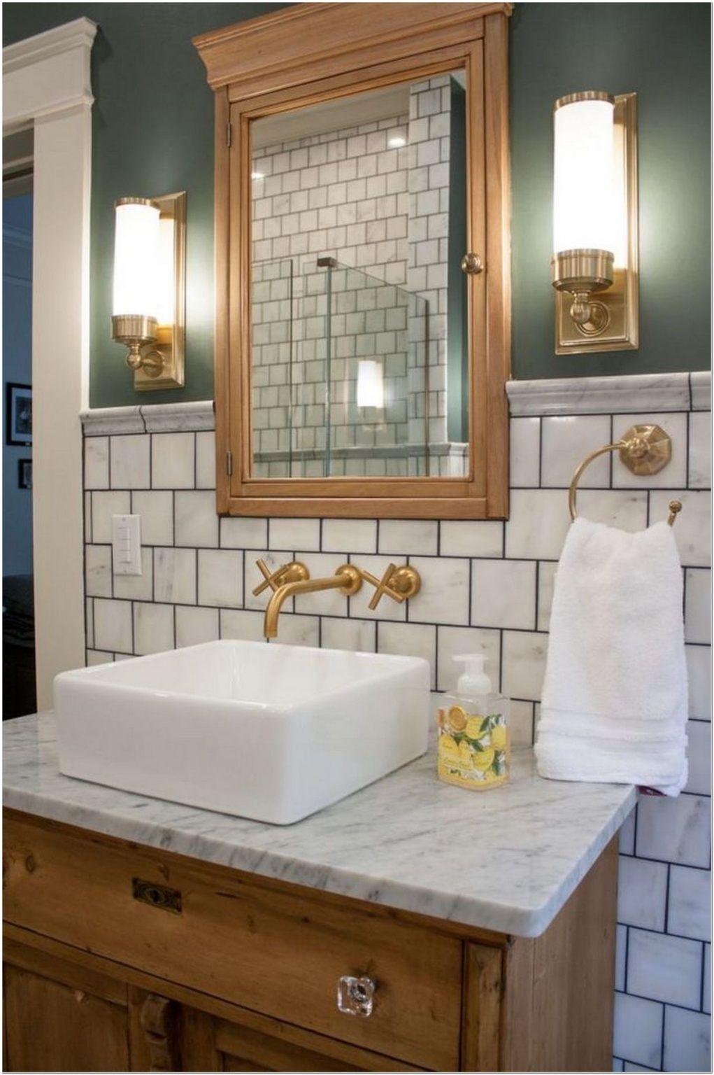 77 cool half bathroom ideas and designs you should see in on bathroom renovation ideas 2020 id=22279