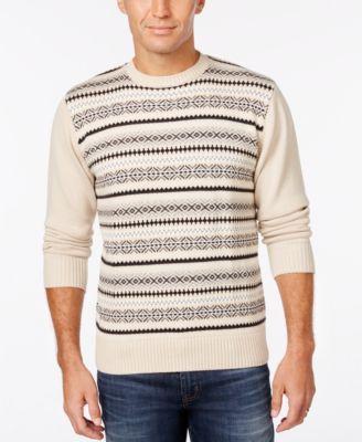 Weatherproof Men's Big and Tall Fair Isle Sweater, Classic Fit ...