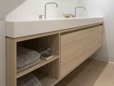 Zelf een badkamermeubel maken badkamer badkamer for Badkamer zelf maken