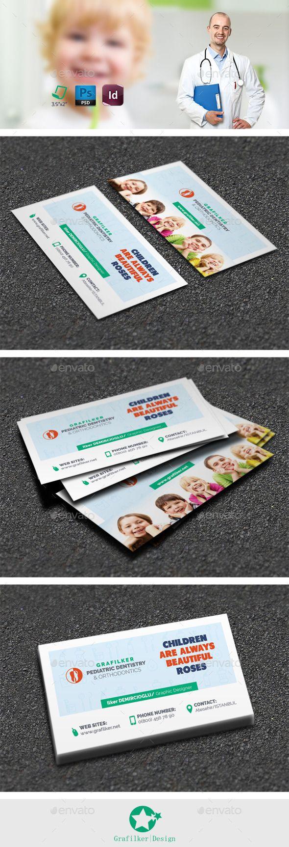 Kids Dental Business Card Templates | Tarjetas