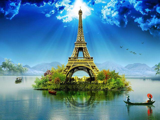 Amar Simplesmente - Eiffel-Tower-Wallpaper-Cartoon by abdal99 on...