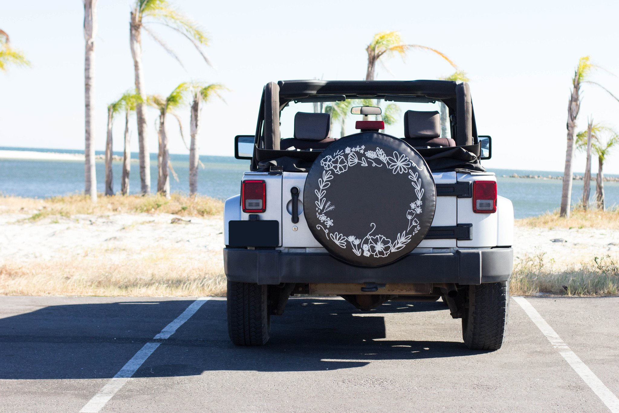 Floral Wreath Tire Cover With Images Jeep Tire Cover Tire