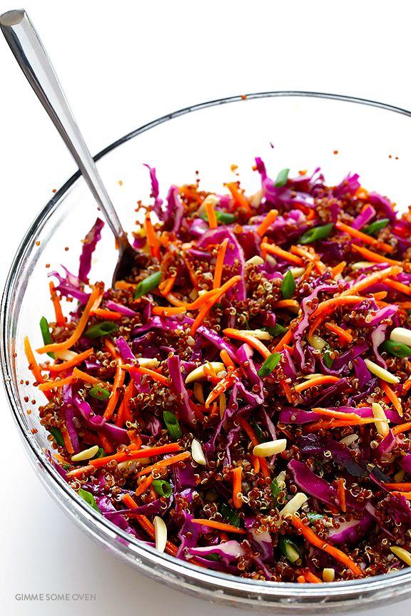 Easy Sesame Quinoa Salad Receita Receitas Receitas