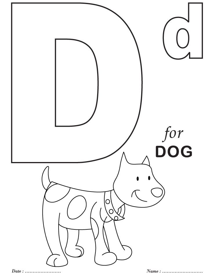 printables alphabet d coloring sheets - Letter Coloring Pages Printable