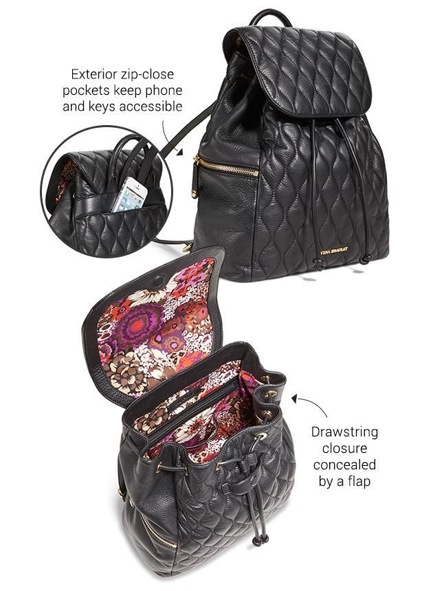 Take the Quilted Amy Backpack to school with you!