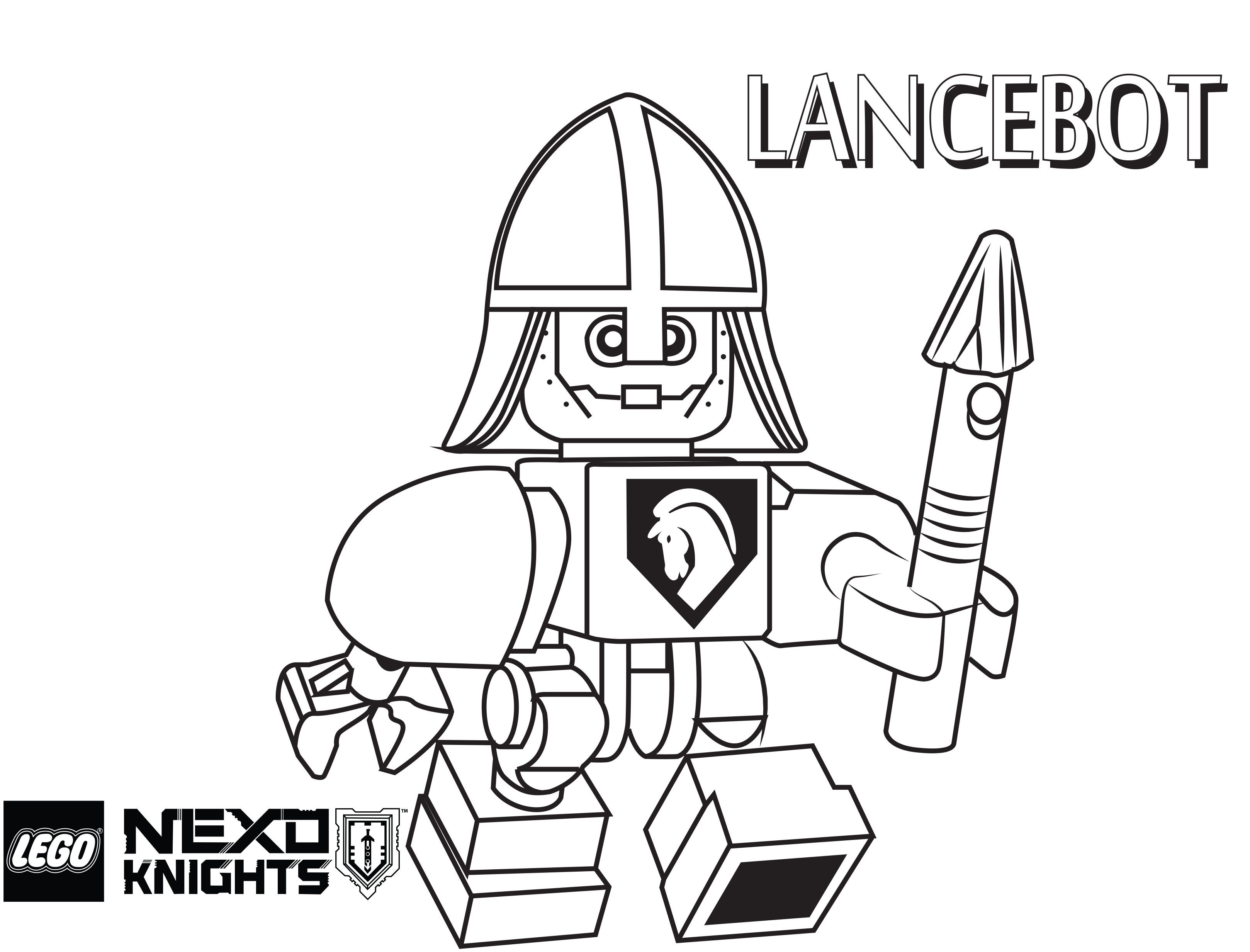 Lego Nexo Knights Coloring Pages Free Printable Lego Nexo Knights