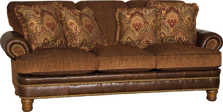 Mayo Furniture 479 Leather/Fabric Sofa - Cassidy Multi