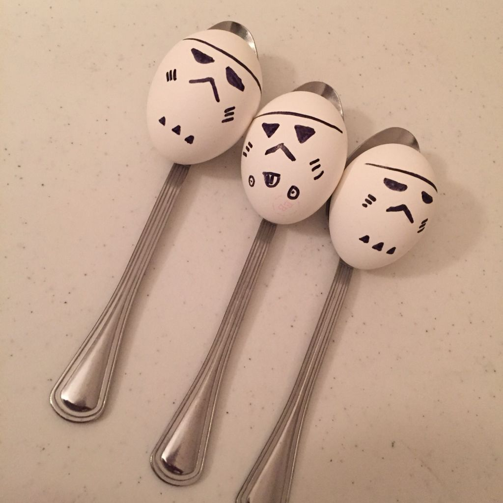 I Made My Own Stormtroopers Out Of Eggs For The Relay Game Don T