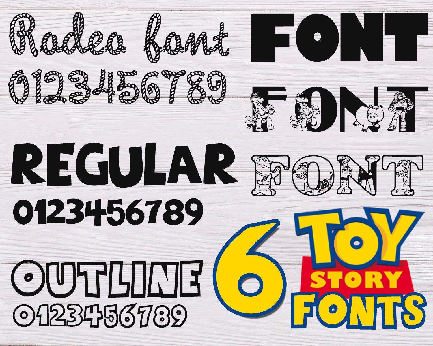 TOY STORY FONT svg toy story alphabet toy story numbers