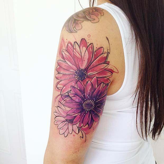 Photo of 47 tatouages de fleurs aquarelle à couper le souffle | Page 4 sur 5 | StayGlam