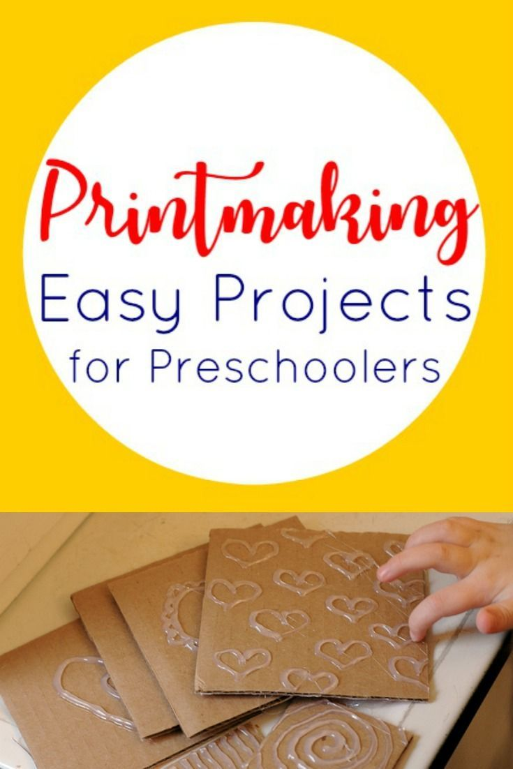 Easy printmaking for preschoolers- Also fun for playgroups and older kids
