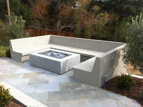 Photo of fire pit seating