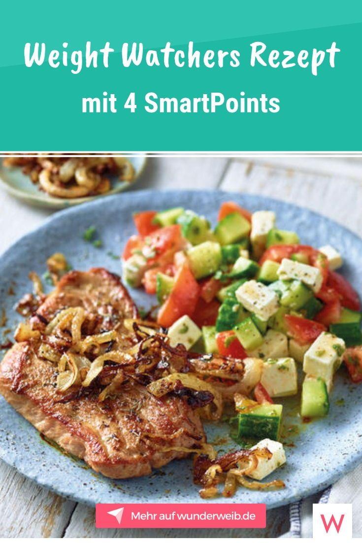 Dieses Weight Watchers Rezept für Gyrosschnitzel mit Bauernsalat hat nur 4 SmartPoints. #weightwatchers #weightwatchersrezepte #rezepte