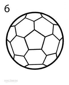 How to Draw a Soccer Ball Step 6 | Soccer Stuff in 2019