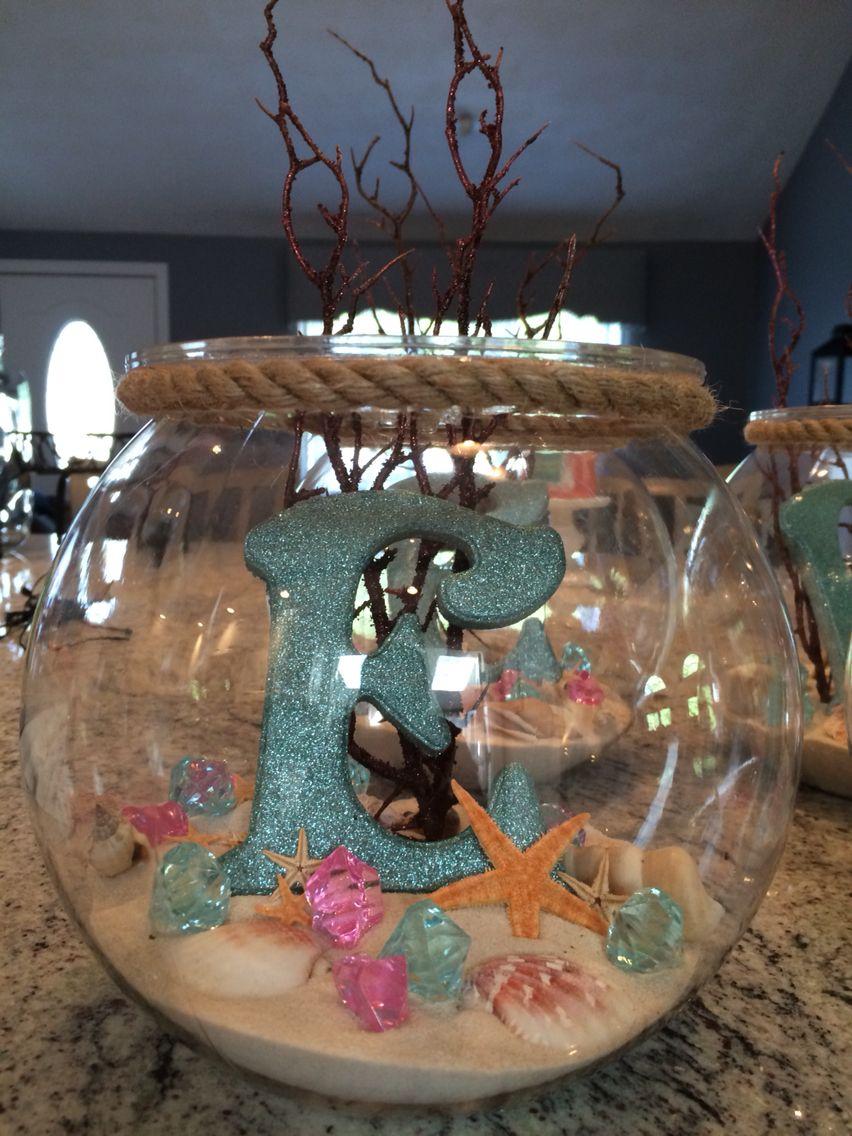 centros de mesa para fiesta de moana cumple 7 elenita pinterest mermaid centerpieces and. Black Bedroom Furniture Sets. Home Design Ideas