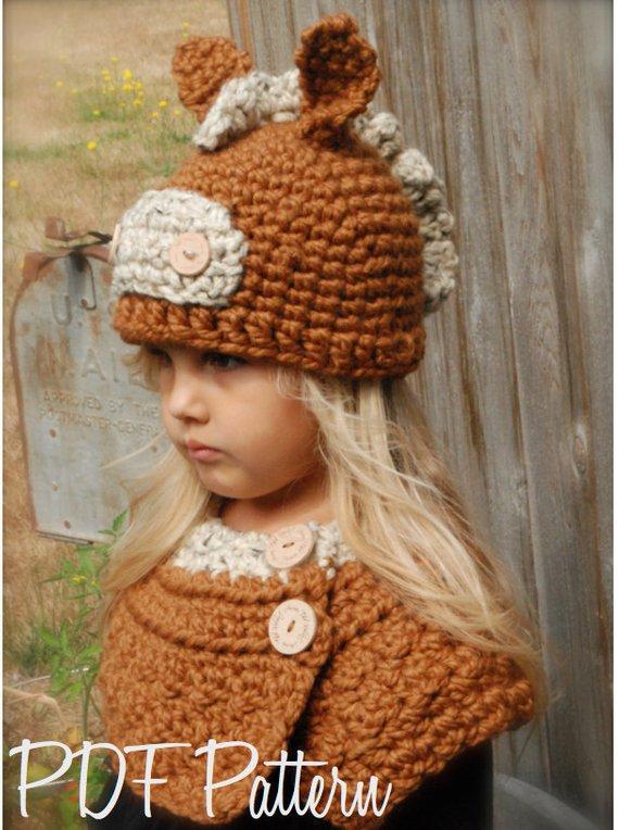 fe815932429 Crochet PATTERN-The Harley Horse Set (Toddler