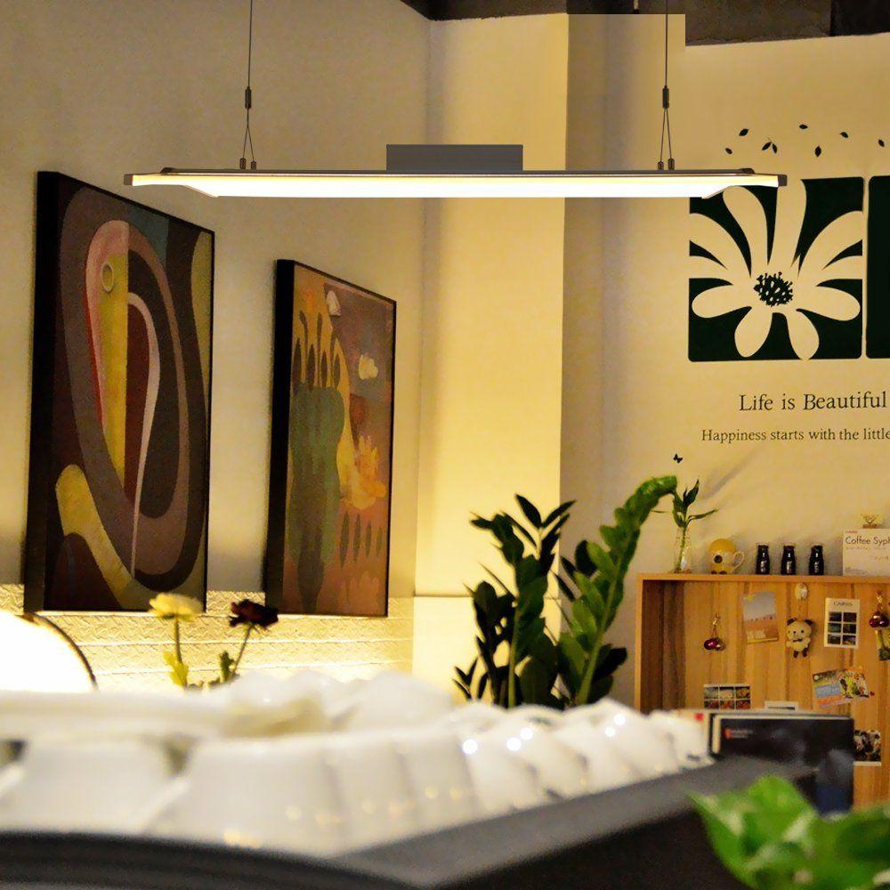 yorbay led pendelleuchte panel esszimmer beleuchtung h ngeleuchte b ro arbeitszimmer. Black Bedroom Furniture Sets. Home Design Ideas