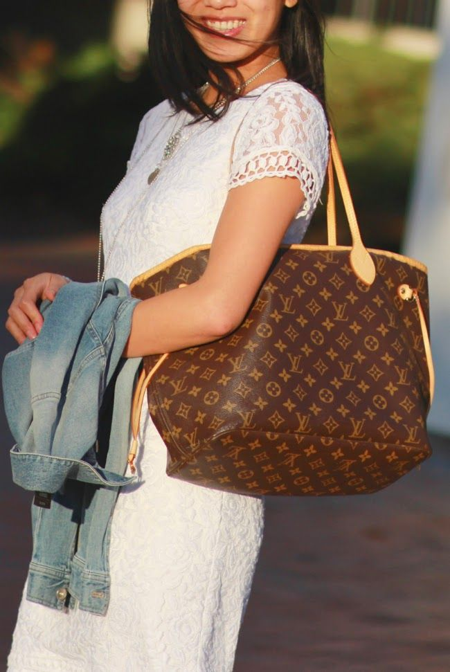 cd82c5a55 Carry all. Literally! Louis Vuitton Monogram Neverfull MM. | Bag ...