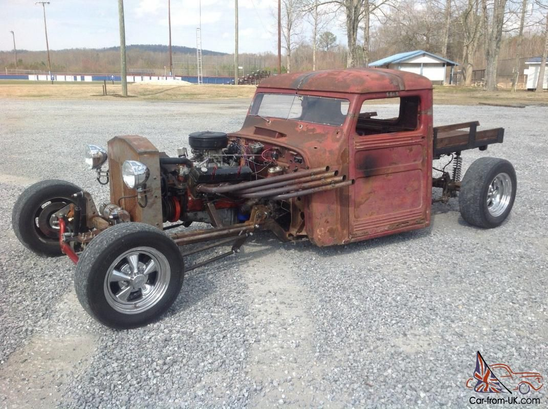 Willys Rat Rod Truck | 1951 Jeep Willys pickup Rat rod for sale ...