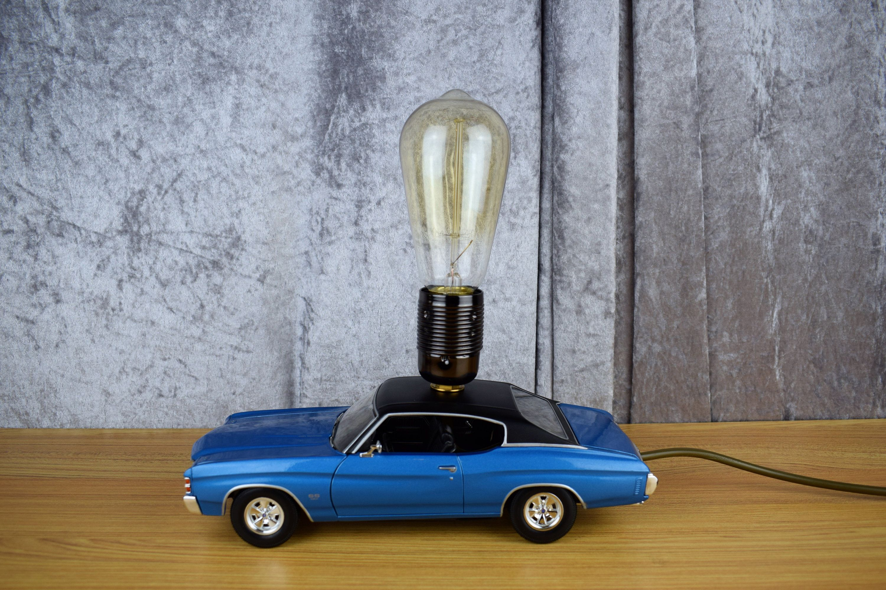 Upcycled Chevelle SS Toy Car Table Lamp   UK Http://etsy.me