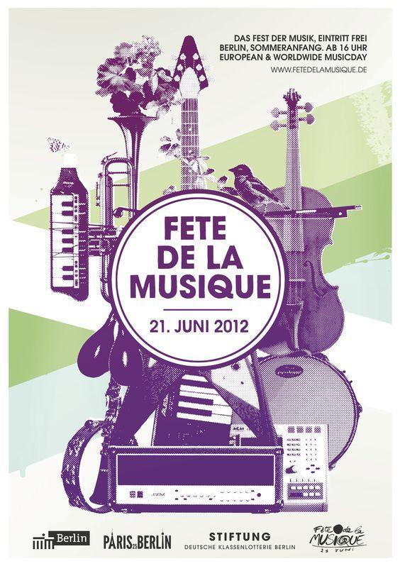30 affiches graphiques à découvrir autour de la fête de la musique   Affiches de musique, Fête ...
