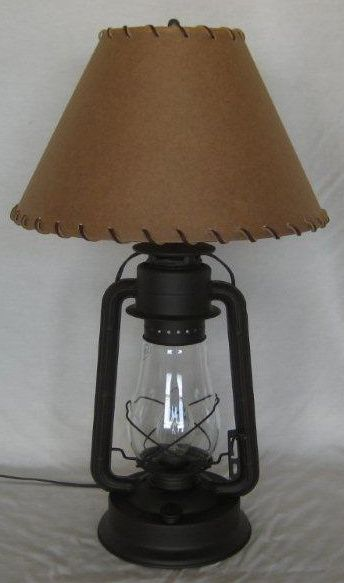 Old west lantern table lamp with shade lodge decor pinterest old west lantern table lamp with shade aloadofball Images