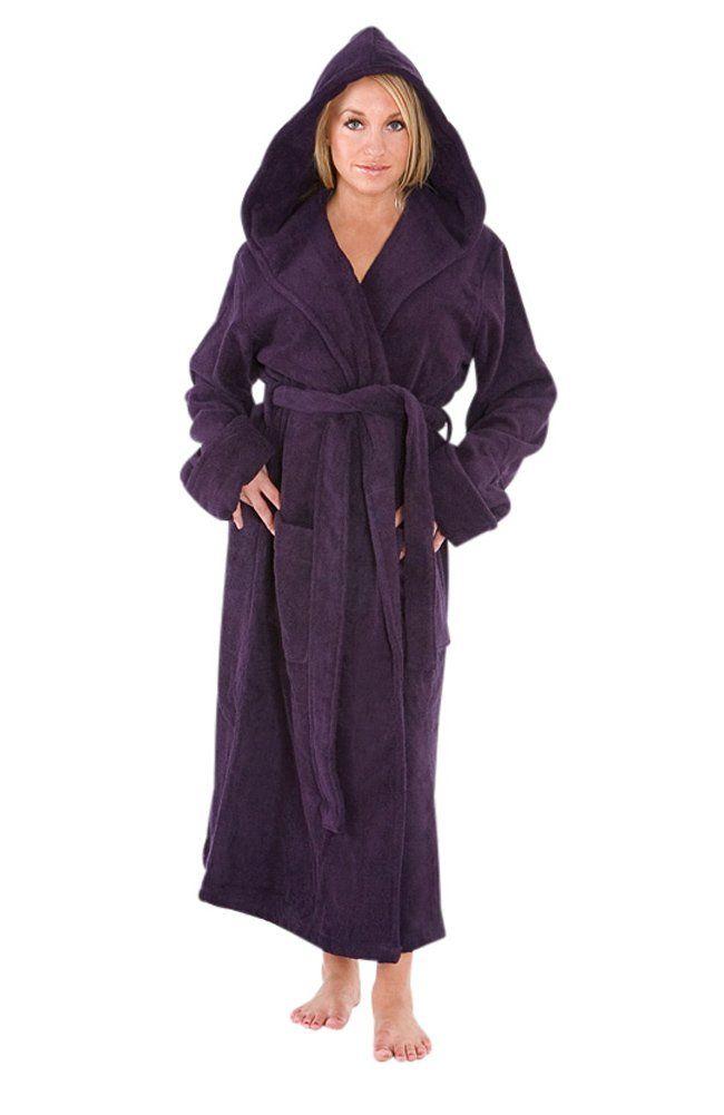 654a7122d8 Del Rossa Women s Classic Fleece Hooded Bathrobe Robe