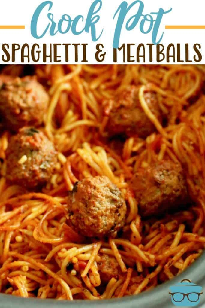 EASY CROCK POT SPAGHETTI AND MEATBALLS | The Country Cook