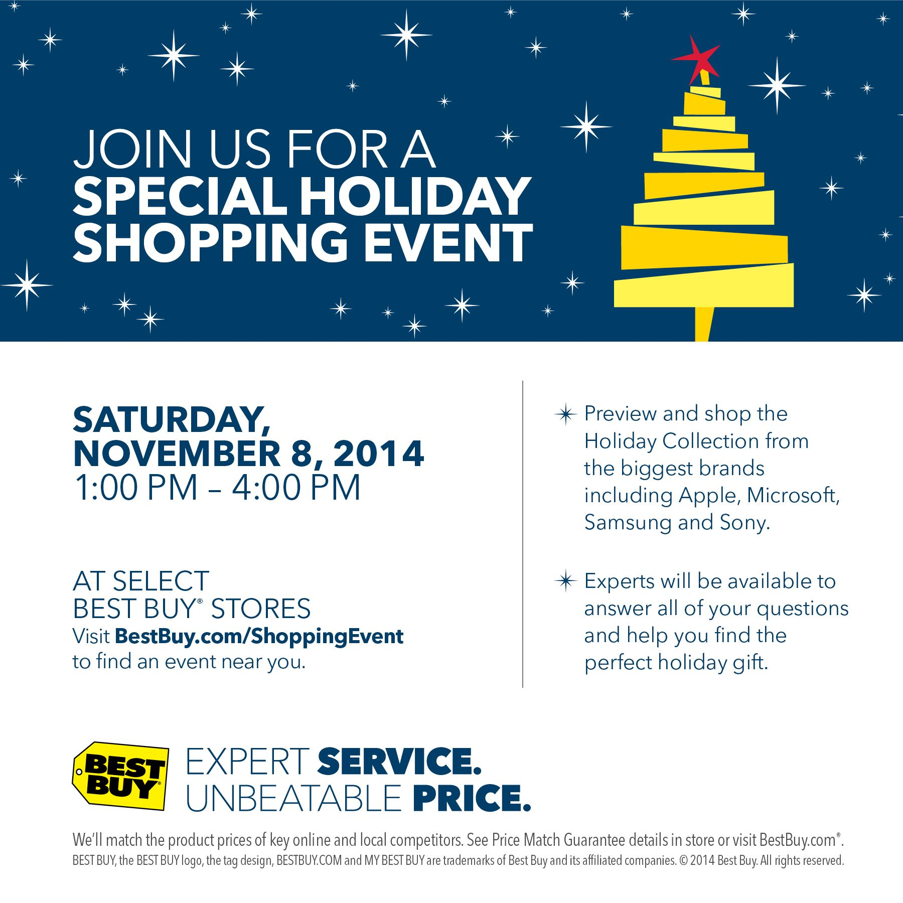 Special Holiday Shopping Event at #BestBuy Sat. Nov. 8, 2014 ...