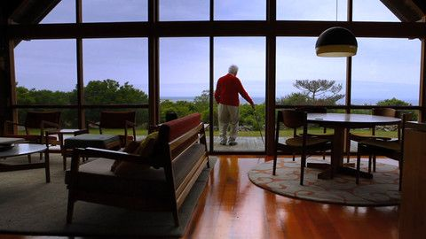 The Legendary Jens Risom Shows Off His Hidden Prefab Beach Home