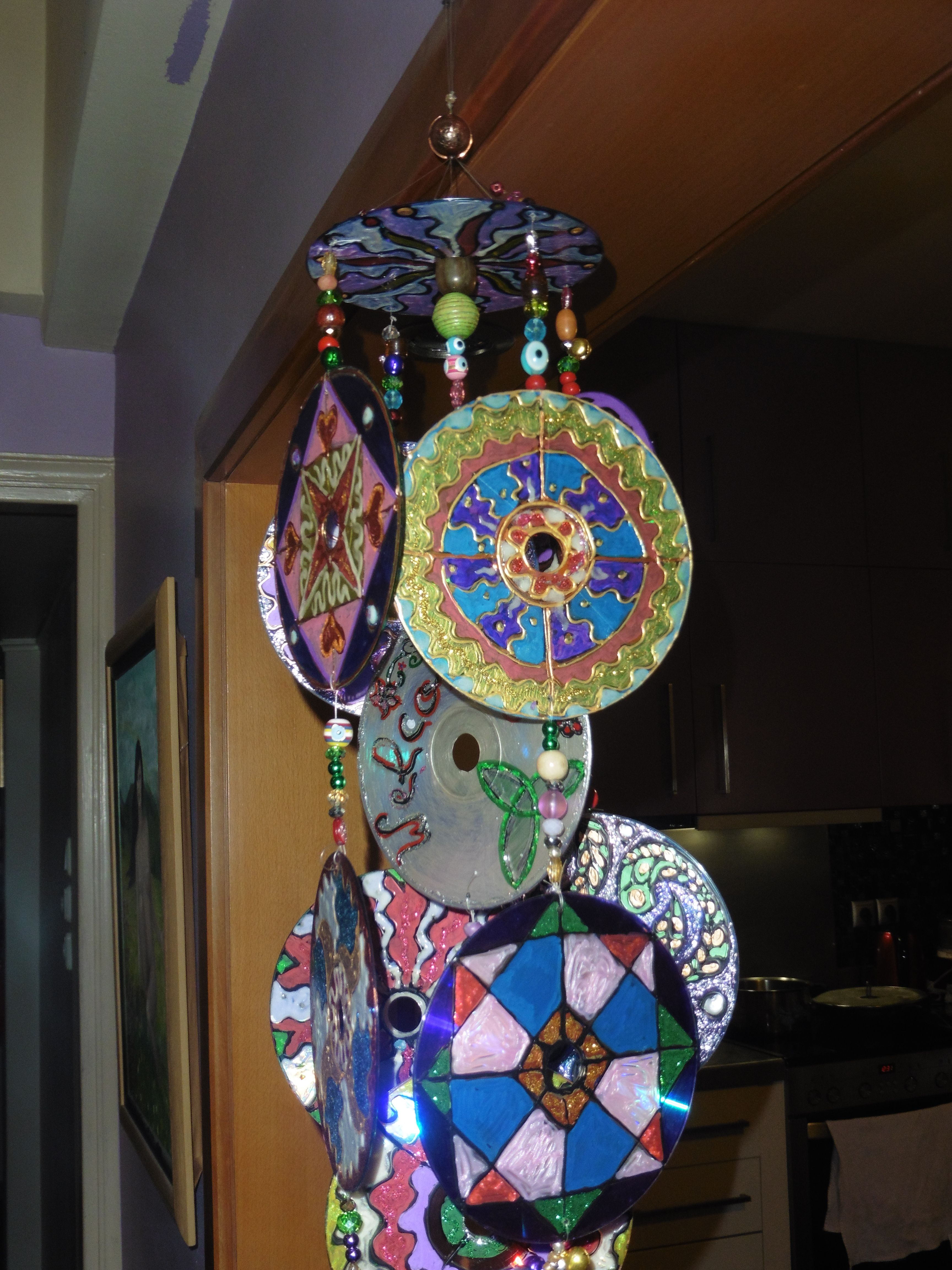 Recycled Cds Into Wind Chimes