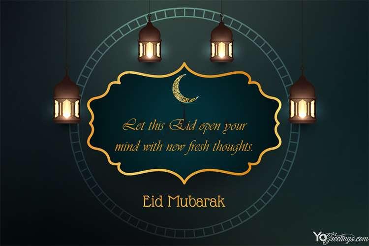 Islamic Eid Mubarak Festival Card For 2020 Eid Mubarak Eid Mubarak Card Eid Mubarak Greeting Cards