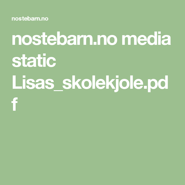 nostebarn.no media static Lisas_skolekjole.pdf